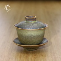 Tea Dust Glaze Gaiwan Darker Shade Featured View