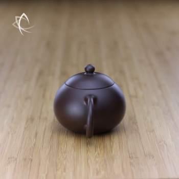 Small Xi Shi Purple Clay Teapot Handle View