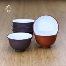 Purle and Red Clay Tea Cups Featured View