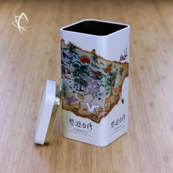 Tour of Taiwan Tea Caddy Lid Off View
