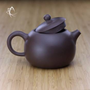 Larger Xi Shi Purple Clay Teapot Lid Off View