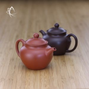 Pocket Duo Zhi Red and Purple Clay Teapots Featured View