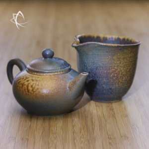 Ash Glazed Classic Shui Ping Teapot with Tea Pitcher Featured View
