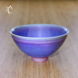 Mauve Oil Spot Tianmu Chawan Featured View