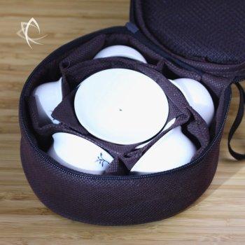 Tang Arabesque Travel Tea Set for 5 Inside View
