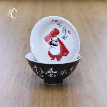 Hand Painted Luohan Tea Cup Design 2