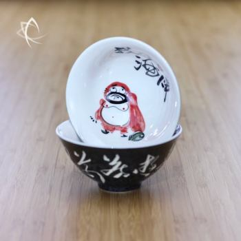 Hand Painted Luohan Tea Cup Design 4