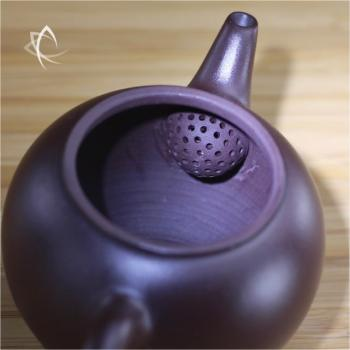 Hand Thrown Small Round Teapot Filter View