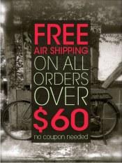 Free Shipping at $60