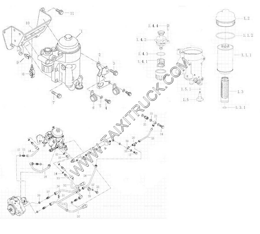 FUEL FILTER, MC11 ENGINE PARTS CATALOGS