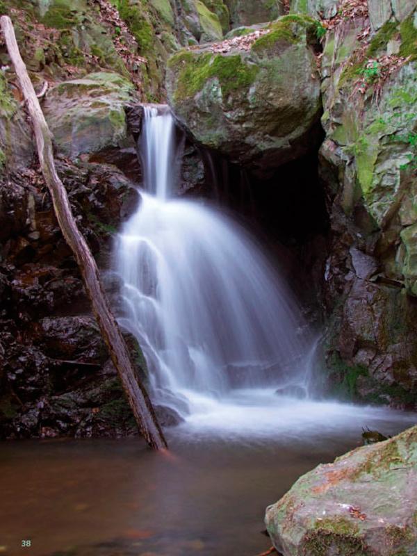 Moravanské vodopády v Mlýnském dole.