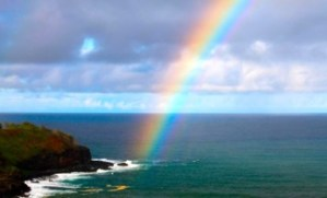 Kauai Rainbow Over Ocean
