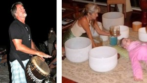 Toby Drumming & Taj with Bowls
