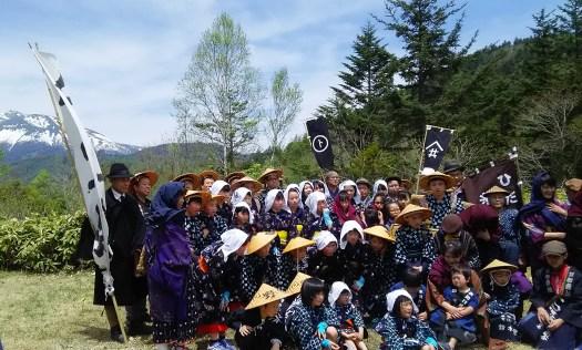 奈川、高根、工女行列に参加いただいた皆様