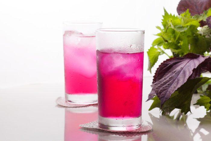 レシピ 『赤紫蘇で作るジュース』と応用の仕方