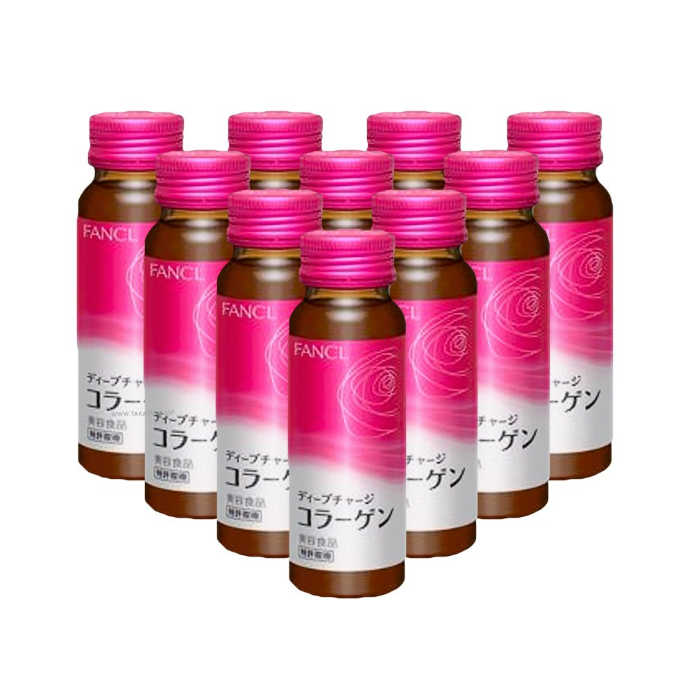 FANCL HTC Deep Charge Collagen 10 Days 50ml x 10 - Made in Japan - TAKASKI.COM