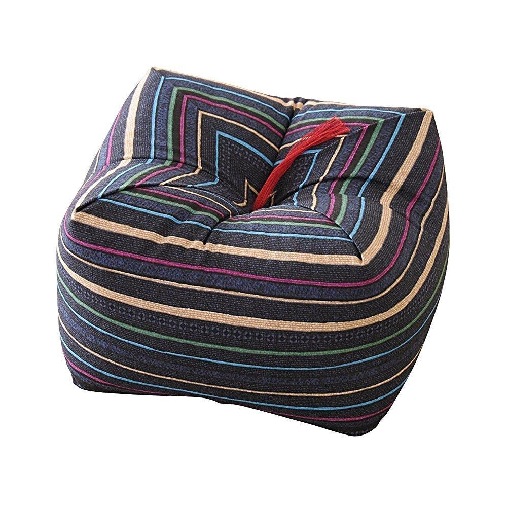 Japanese Sobagara Buckwheat Husk Cushion  Pillow Blue