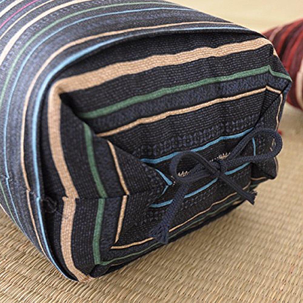 Japanese Sobagara Buckwheat Husk Pillow Blue  Made in