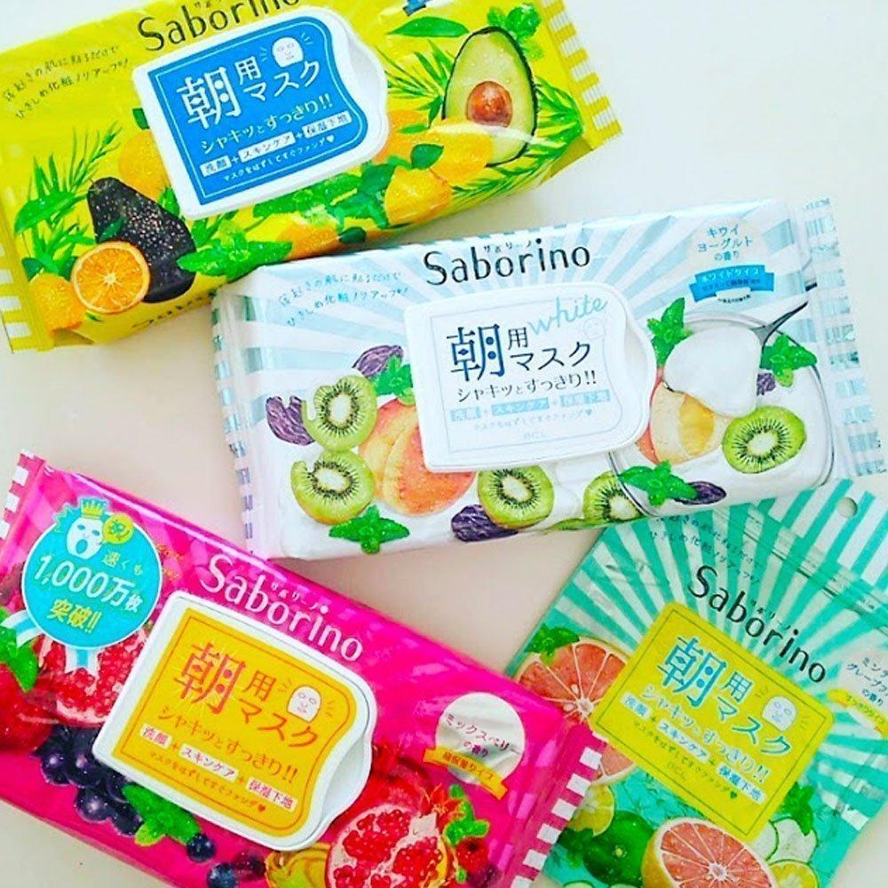 SABORINO Morning Beauty Mask Mezamasheet Fruity 32 Sheets - Made in Japan - TAKASKI.COM
