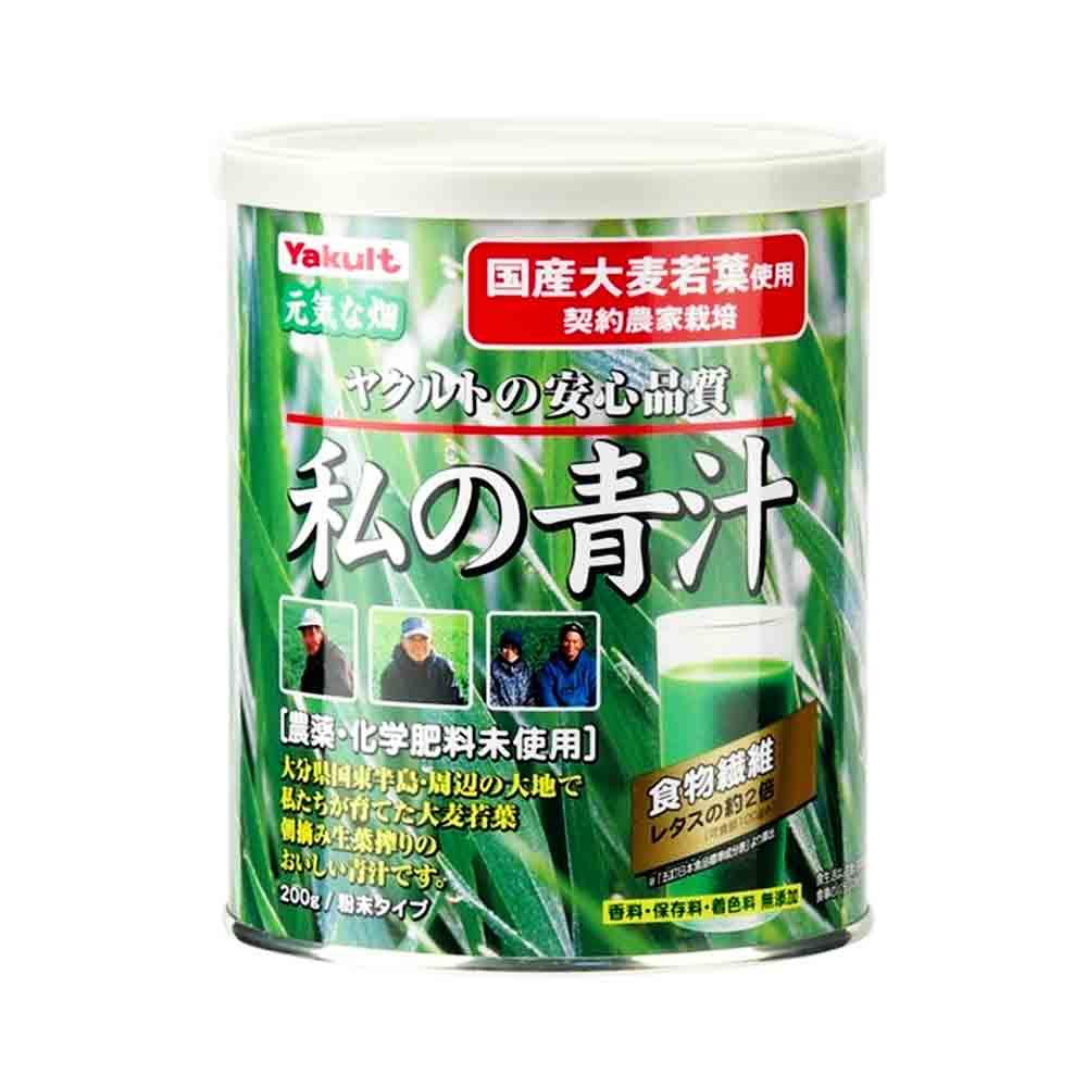 YAKULT Watashi No AOJIRU Ooita Young Barley Grass 200g Can ...