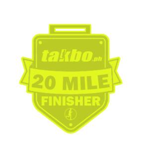Takbo.ph 20 Miler 2015 Medal