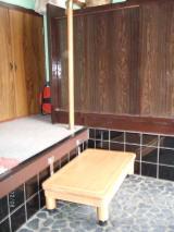 玄関上り框ステップ併用工事例