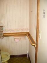トイレ横手すり壁補強版利用工事例