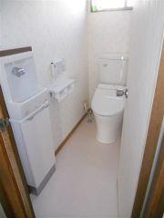 手洗い器付内装一新して明るいトイレスペース
