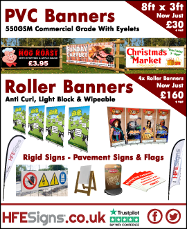Printed Signs, Banners and Flags