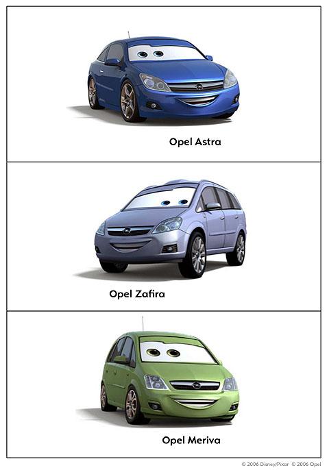 Take Five A Day Blog Archive Disney Pixar CARS Opel
