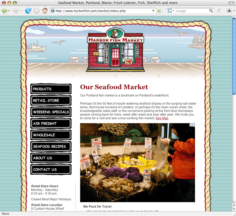 Harbor Fish Market - Fresh Seafood in Portland. Maine - flyte new media
