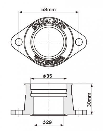 SPECIAL PARTS TAKEGAWA / KEIHIN PE28用ラバーインシュレーター