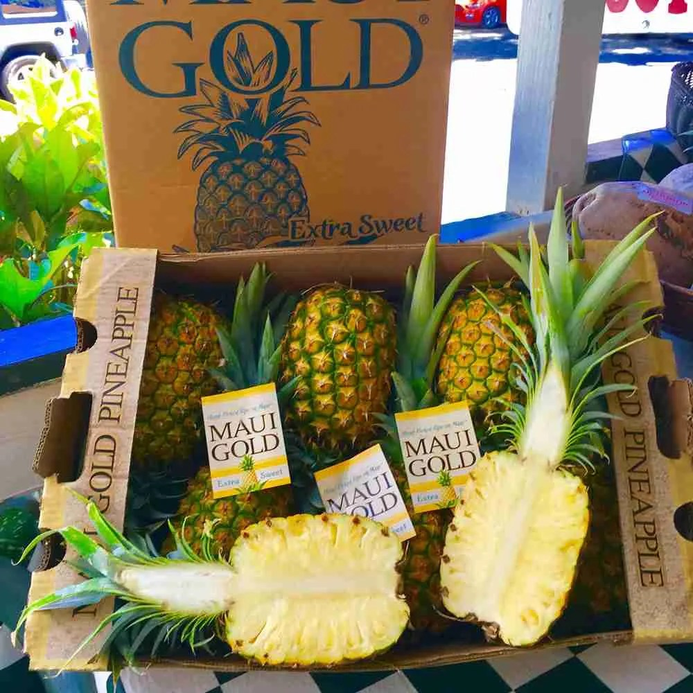 fresh maui pineapples