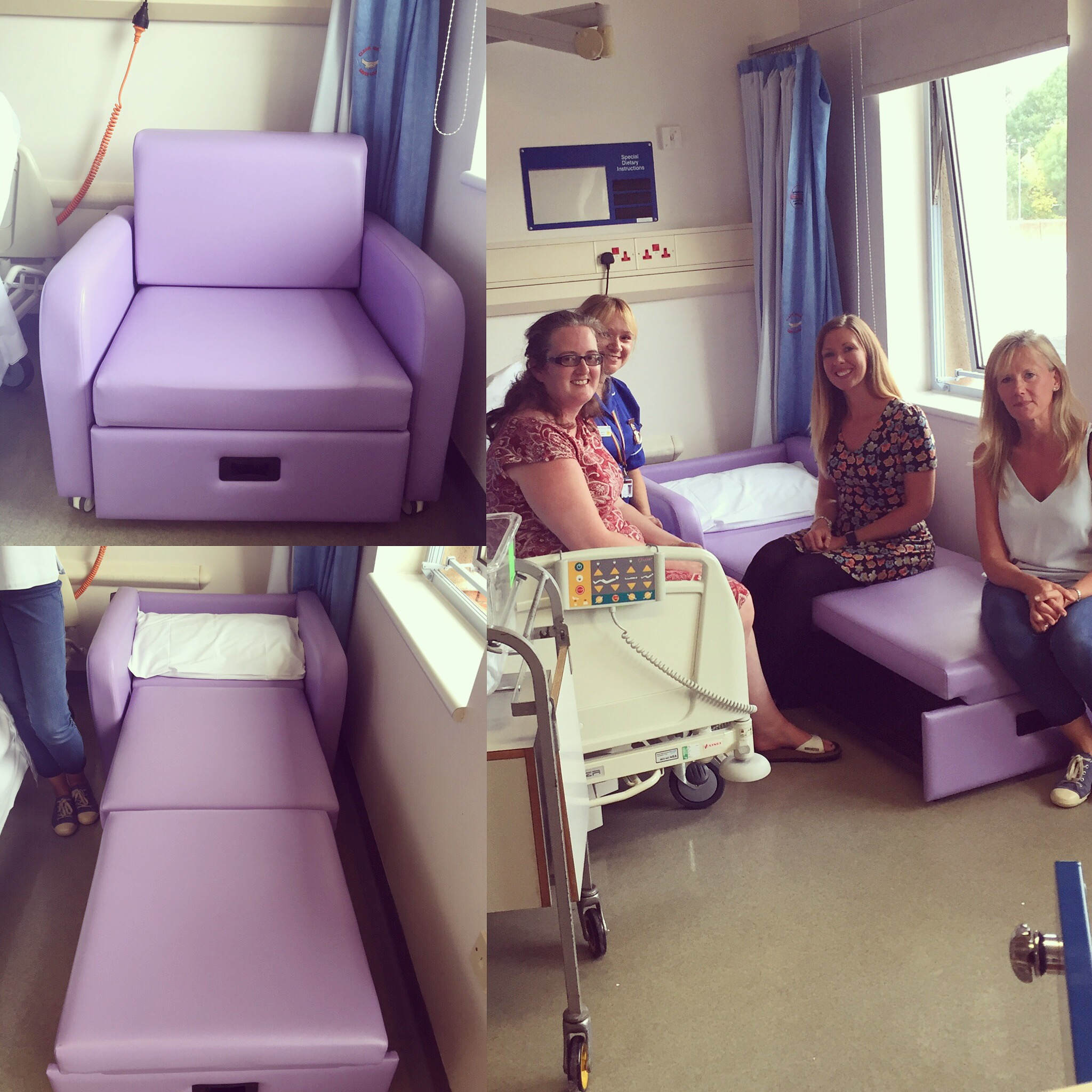 hospital chairs that convert to beds cloud nine chair new foldout arrives at warwick take it