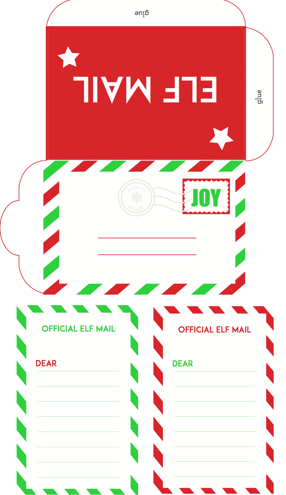 10 Envelope Template From Santa
