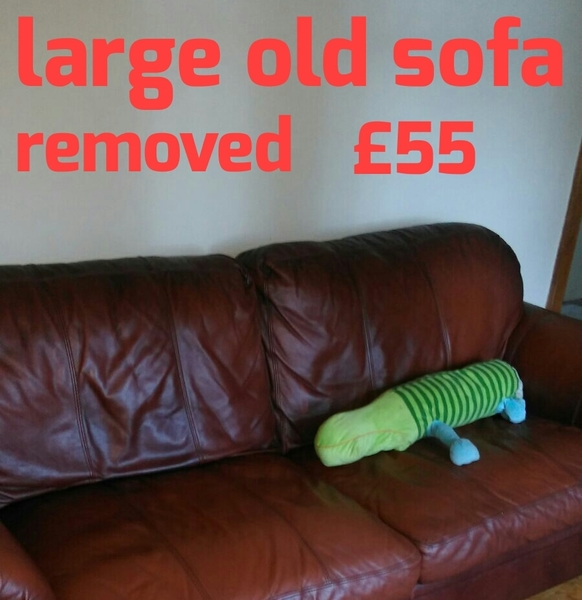 free sofa uplift glasgow sure fit sleeper cover rubbish waste dump it removal prices
