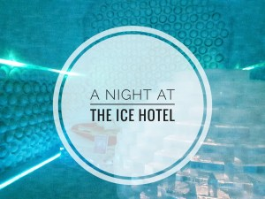 An overnight stay at the ice hotel