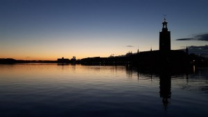Stadshuset Stockholm sunset