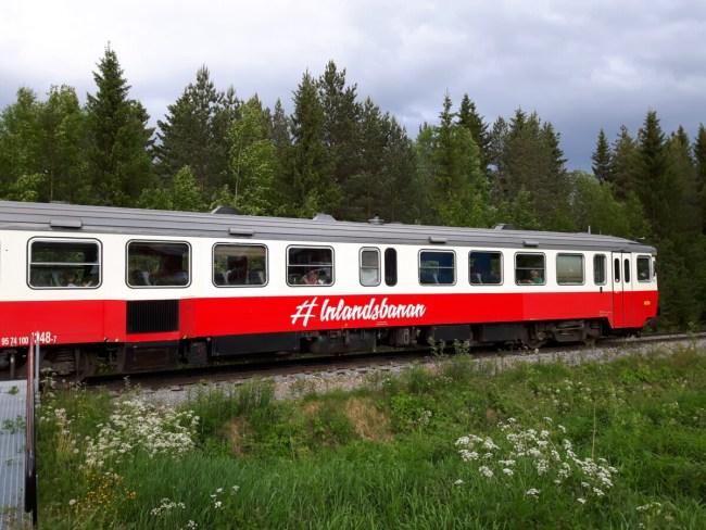 Inlandsbanan van Mora tot Östersund