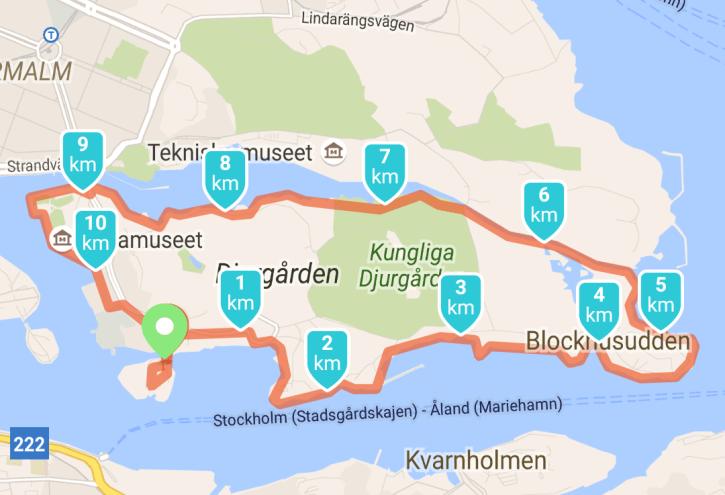 Cityjogging rond Djurgarden
