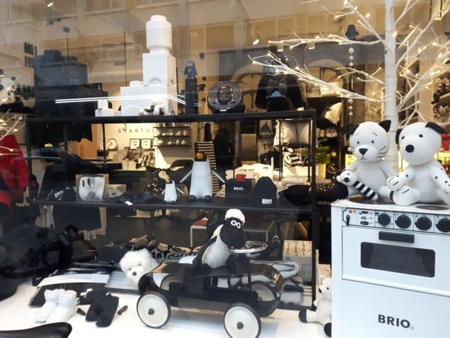 Etalage svartvita rum Stockholm