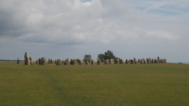 Ales Stenar, het Zweedse Stonehenge, bij Kåseberga (Skåne)