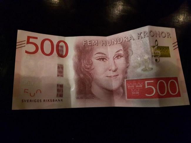 Fem Hundra Kronor - Swedish krona
