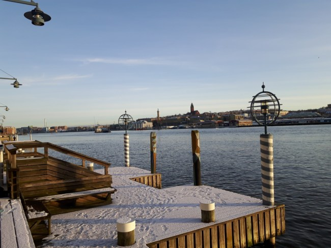 Eriksberg in de winter