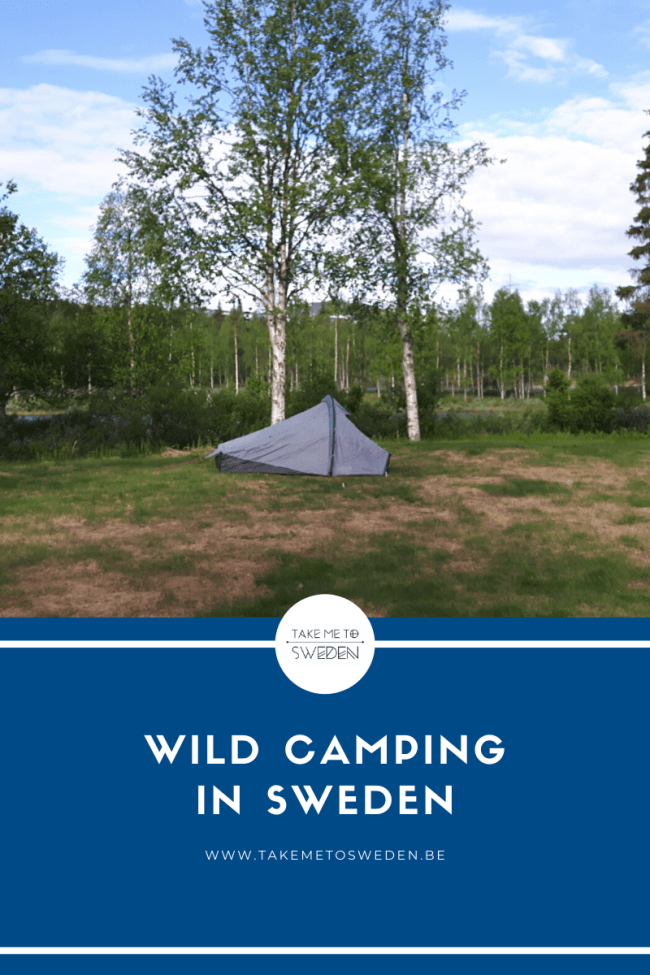 wild camping in Sweden