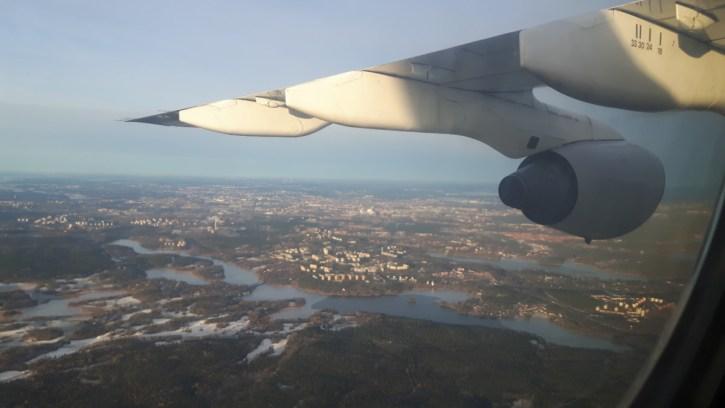 Met het vliegtuig naar Zweden