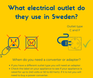 What electrical outlet do you need in Sweden?