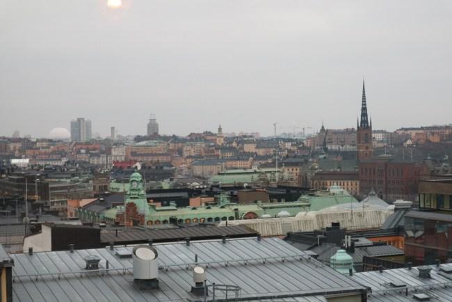 Uitzicht over Stockholm vanaf The Nest