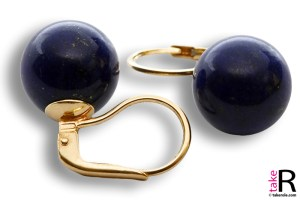 Extra Lapis Earrings 12mm in Gold 18K mmg