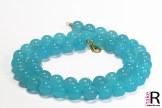 News Jewelry Chalcedony Sea Blue Necklaces